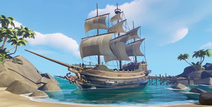sea of thieves trailer ship