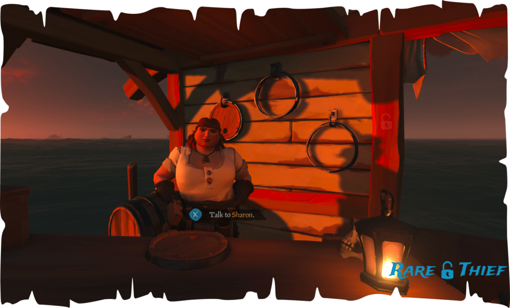 Sharon the Shipwright on Golden Sands Outpost
