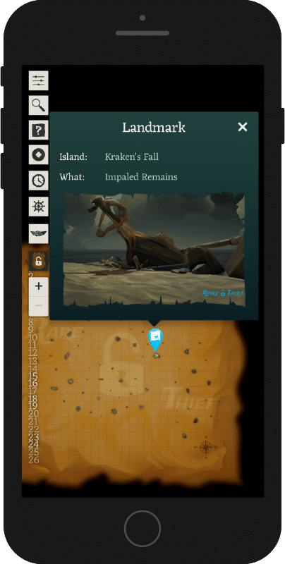 Rare Thief Sea of Thieves Map App Search Results Impaled Remains