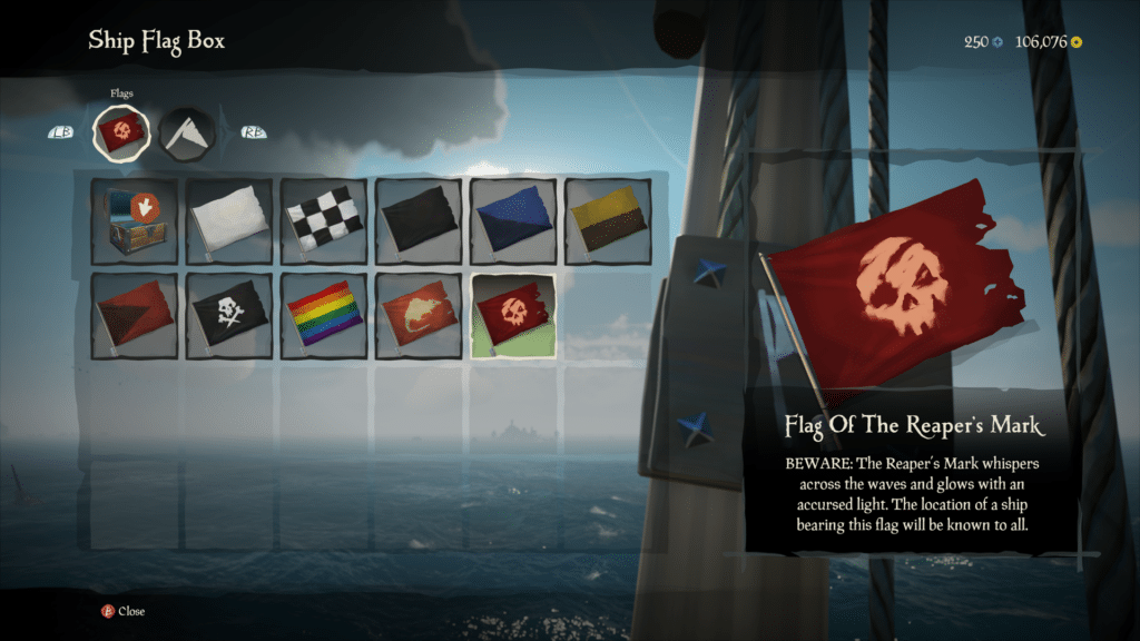 Reaper's Mark Flag in Sea of Thieves