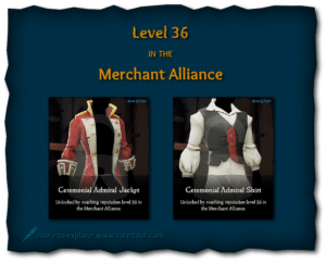 Sea of Thieves Cosmetics Ceremonial Admiral Jacket and Shirt