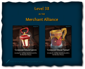 Sea of Thieves Cosmetics Ceremonial Admiral Lantern and Tankard