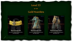 Sea of Thieves Cosmetics Royal Sovereign Belt, Dress, and Trousers