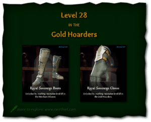 Sea of Thieves Cosmetics Royal Sovereign Boots and Gloves