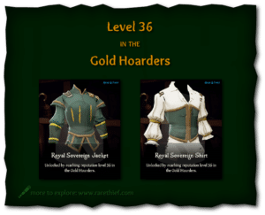 Sea of Thieves Cosmetics Royal Sovereign Jacket and Shirt