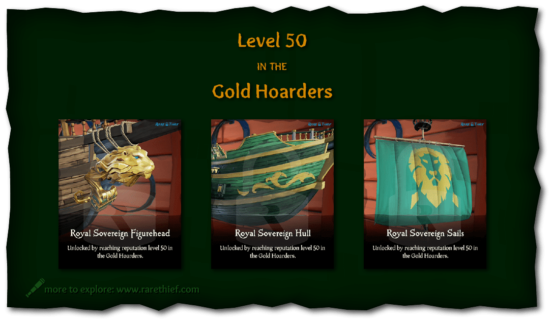 Sea Of Thieves Locked Cosmetics Vol I Infographics