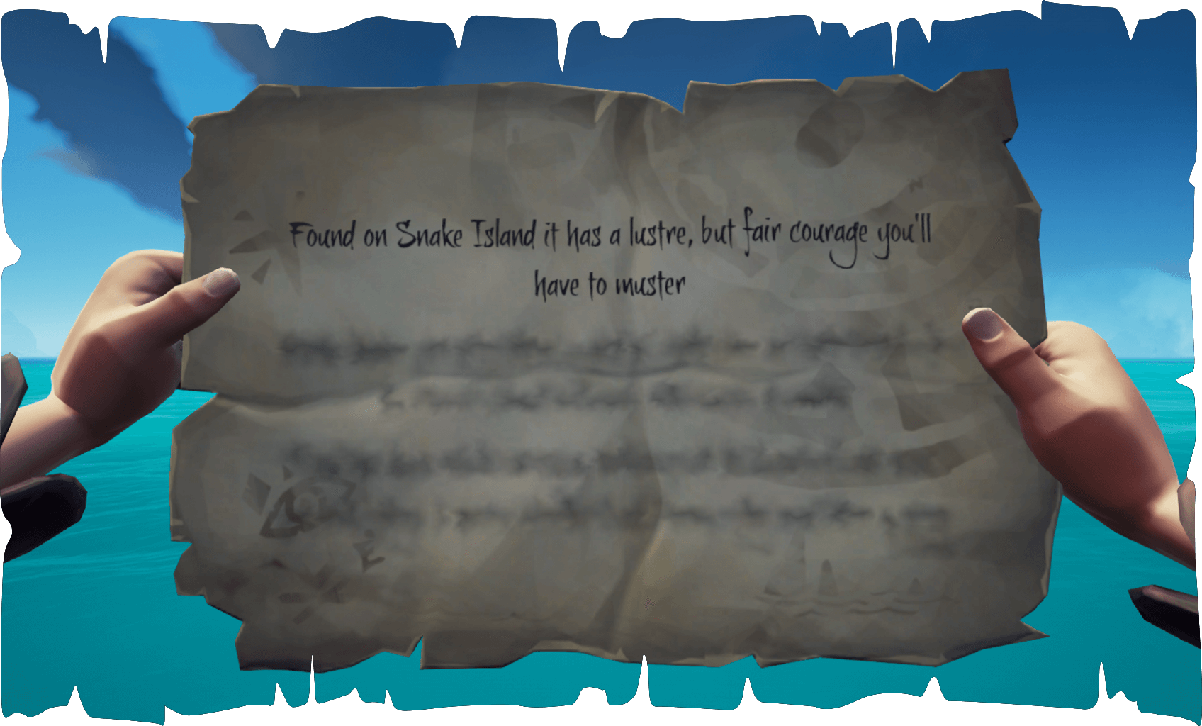 Sea of Thieves Reaper's Run of Shipwreck Bay Snake Island Riddle