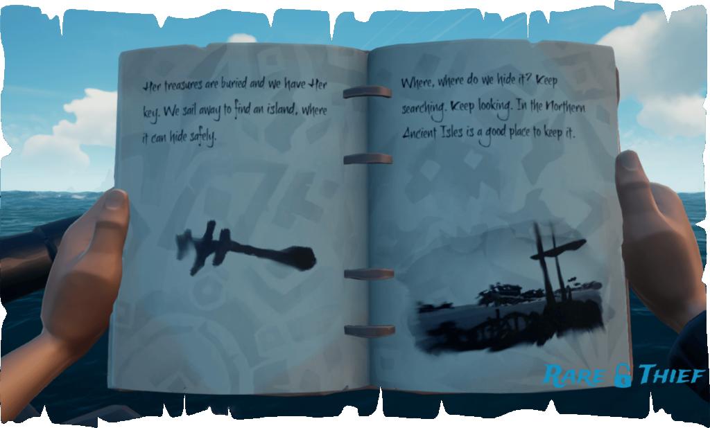 Skeleton Key at Snake Island, Hint 1