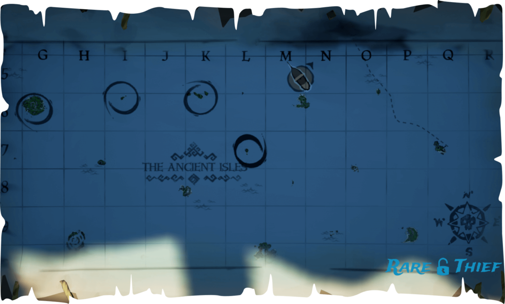 Sea of Thieves Shroudbreaker Ancient Chest Map Directions