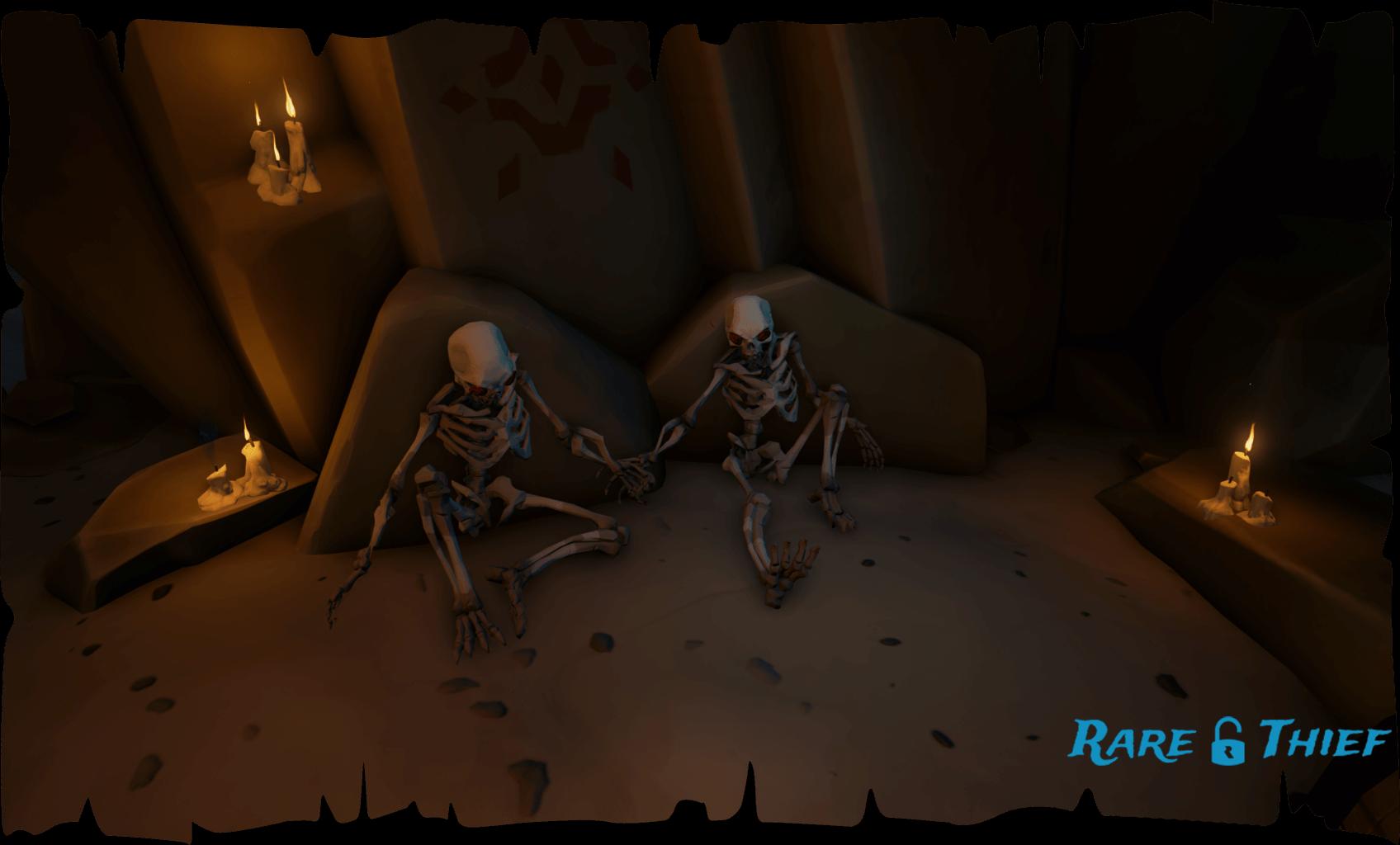 Skeletons Holding Hands
