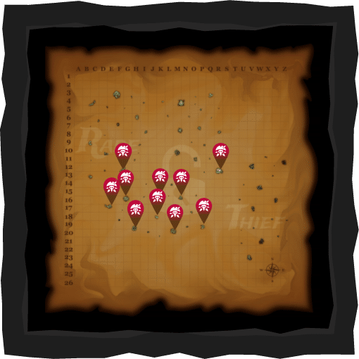 Rare Thief Sea of Thieves Interactive Map for the Cursed Rogue