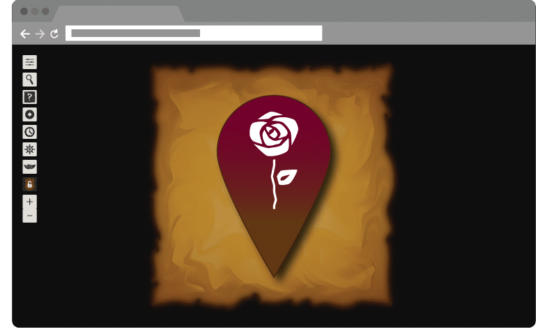 Wild Rose Markers on Web SoT Companion Map