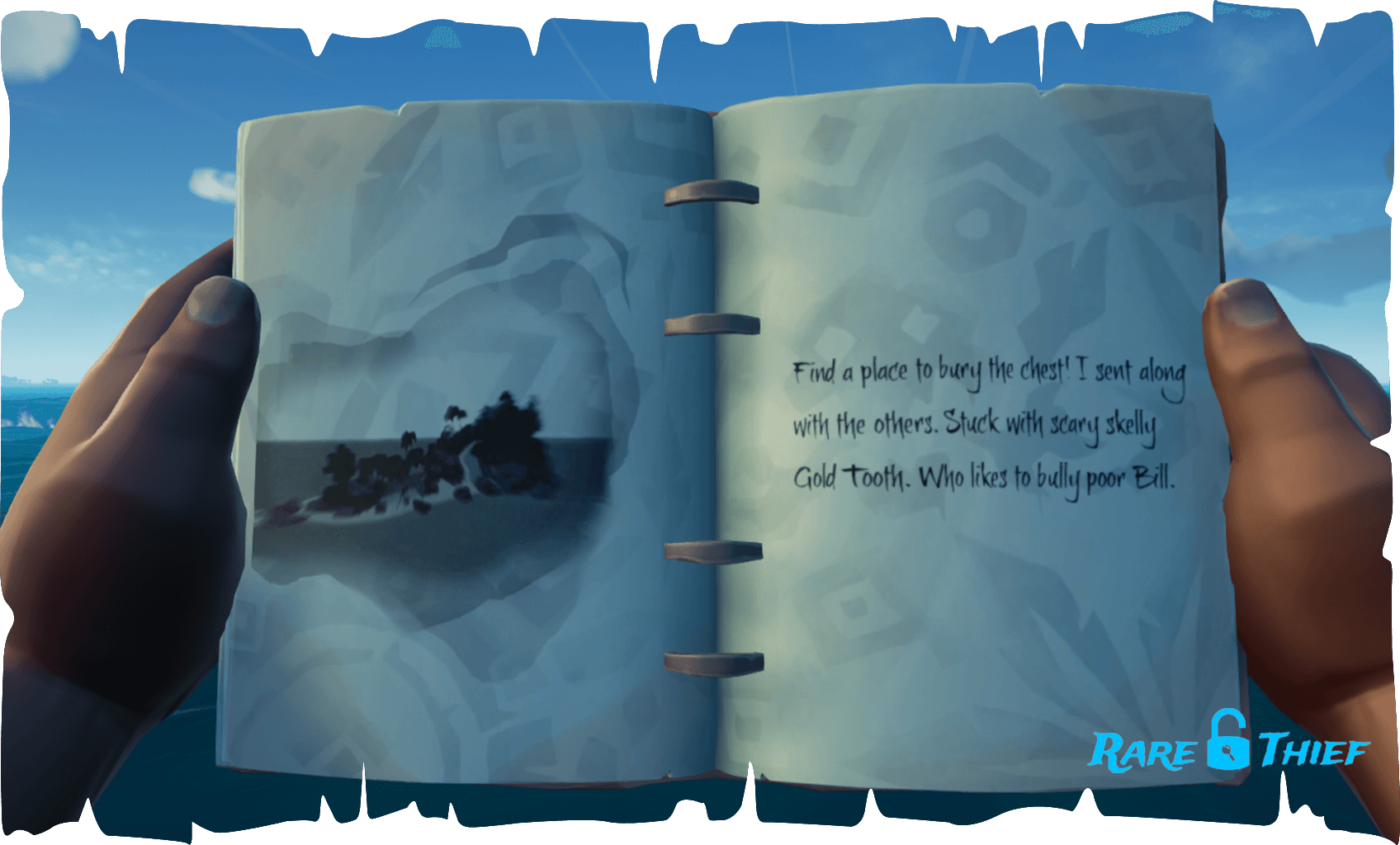 The Skeleton Chest at Lookout Point, Hint 2