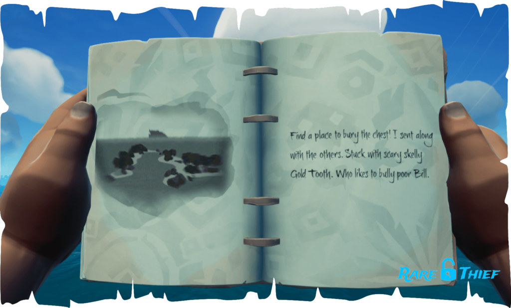 The Skeleton Chest at Mutineer Rock, Hint 1