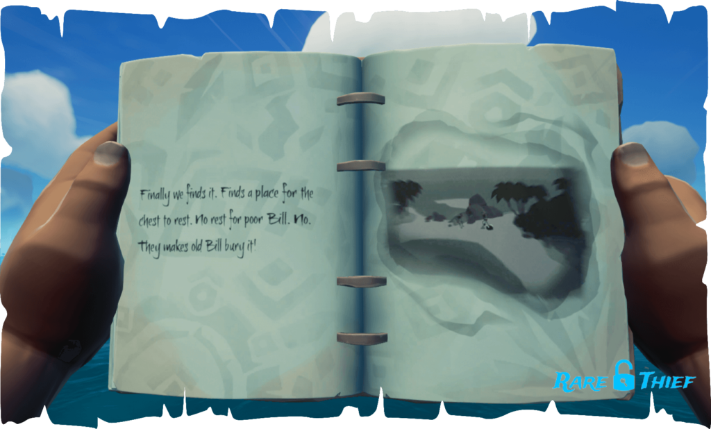 The Skeleton Chest at Mutineer Rock, Hint 2