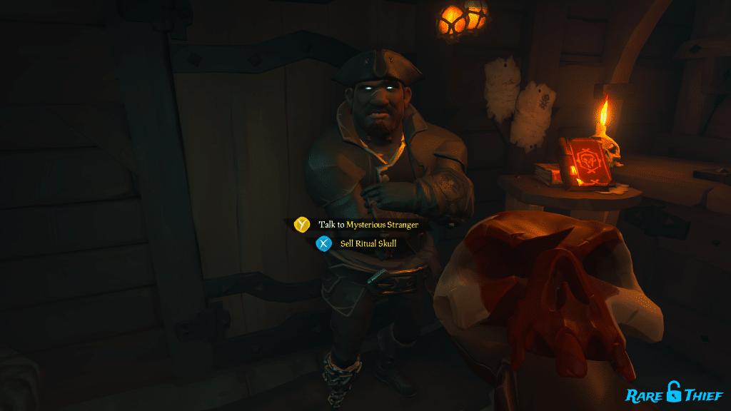 Ritual Skull to the Mysterious Stranger
