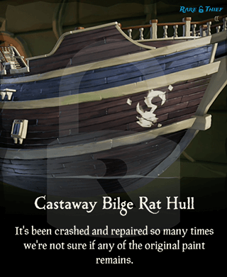 Castaway Bilge Rat Hull in the Rare Thief Map App