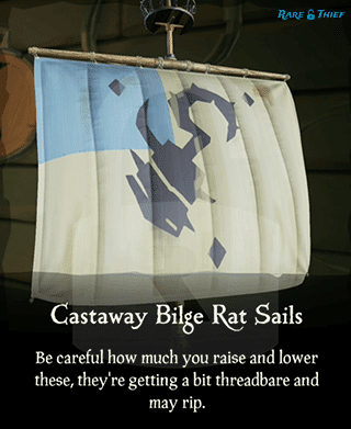 Castaway Bilge Rat Sails in the Rare Thief Map App