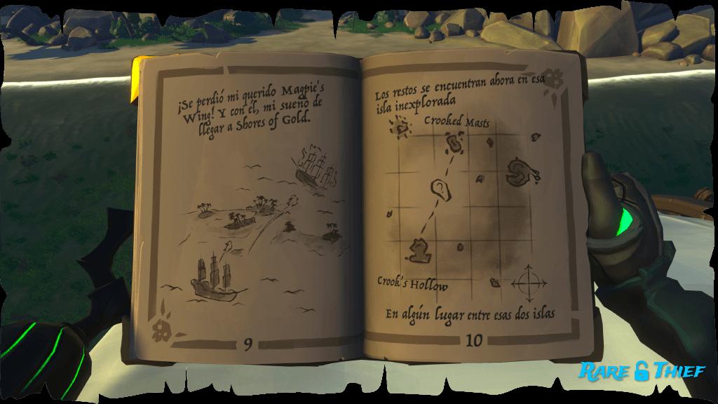 El Shroudbreaker, Mapa de la Isla Inexplorada