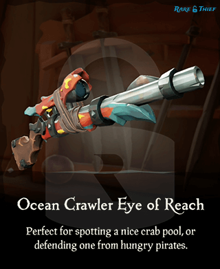 Original Ocean Crawler Eye of Reach on the Rare Thief Map App