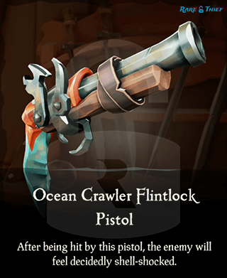 Original Ocean Crawler Flintlock on the Rare Thief Map App