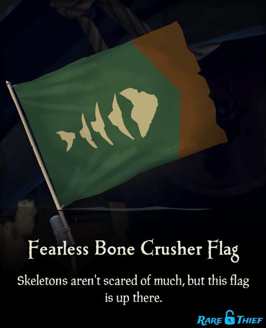 Fearless Bone Crusher Flag