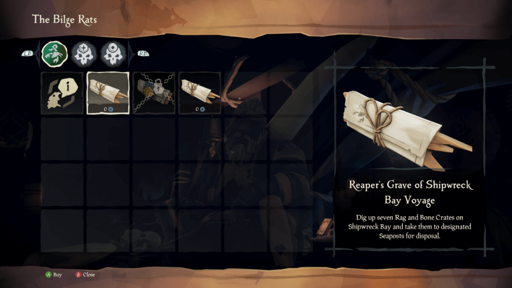 Reaper's Grave of Shipwreck Bay Voyage