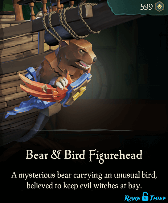 Bear & Bird Figurehead