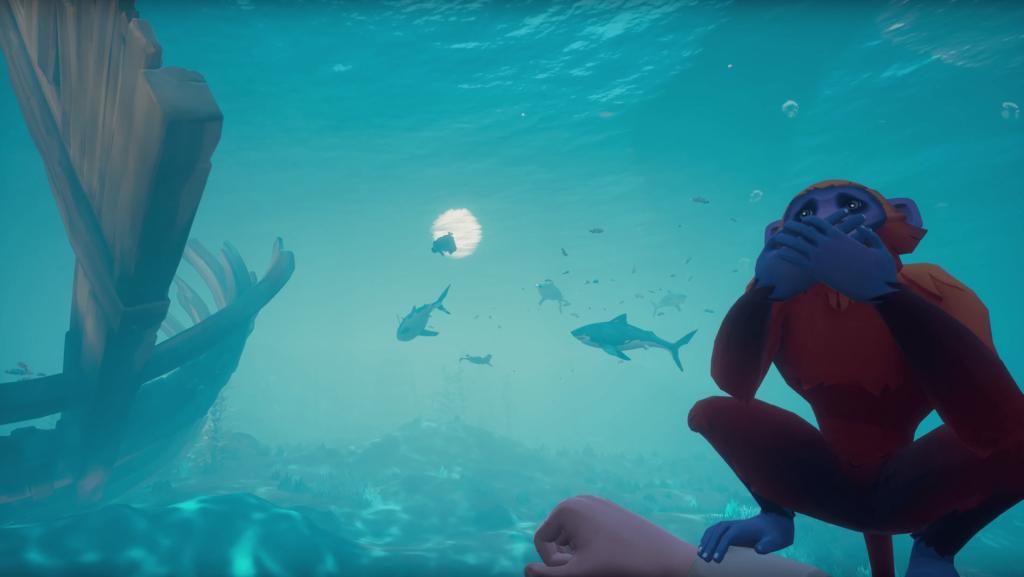 Monkey Under Water