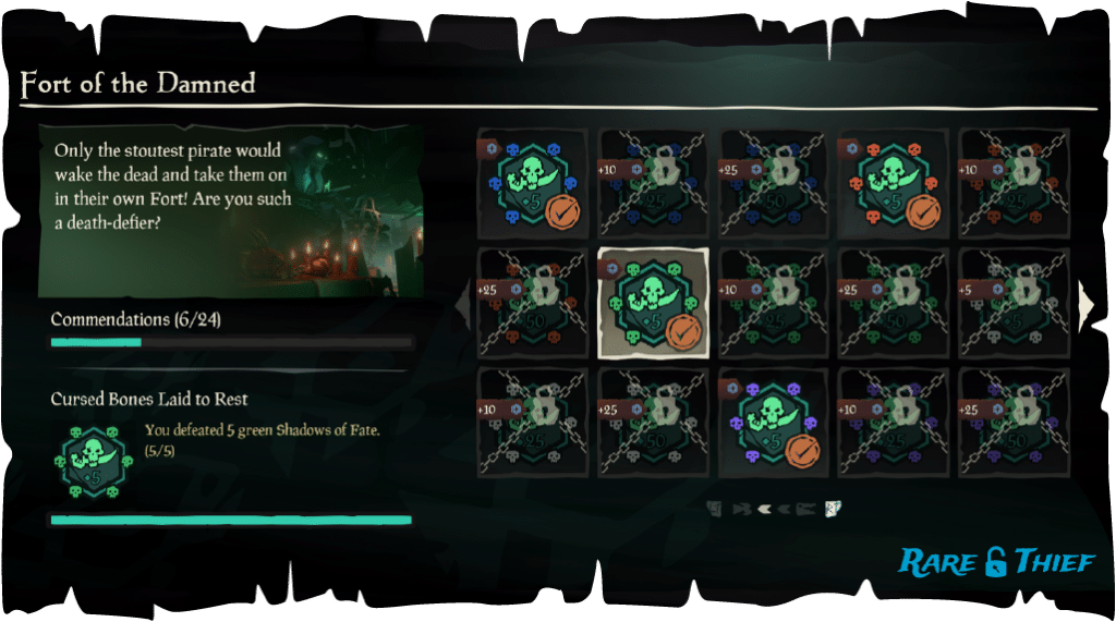 Fort of the Damned Commendations, Green Shadows of Fate