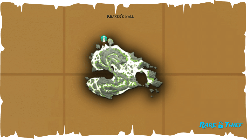 Rare Thief Map, Fate of the Morningstar, Dinger's Chest Location on Kraken's Fall
