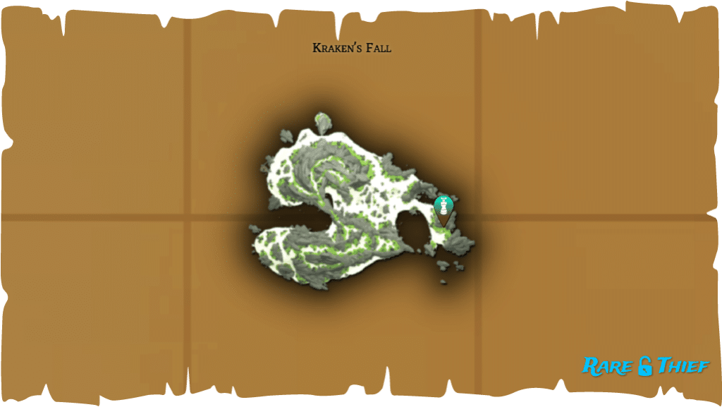 Rare Thief Map, Fate of the Morningstar, Eli's Chest Location on Kraken's Fall