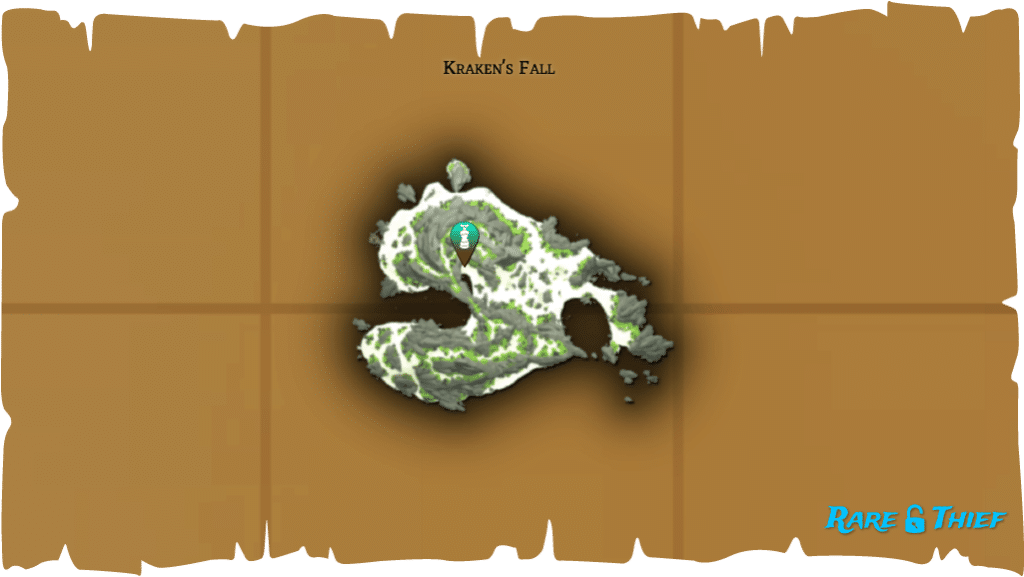 Rare Thief Map, Fate of the Morningstar, Fontaine's Chest Location on Kraken's Fall