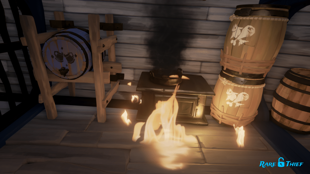 Burning Food Now Starts Fire in Sea of Thieves