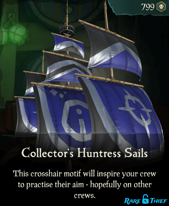 Collector's Huntress Sails
