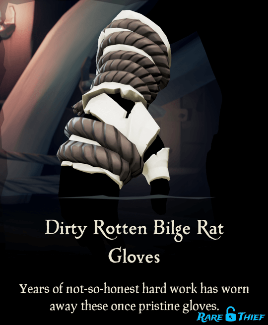 Dirty Rotten Bilge Rat Gloves