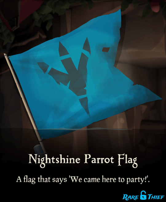 Nightshine Parrot Flag