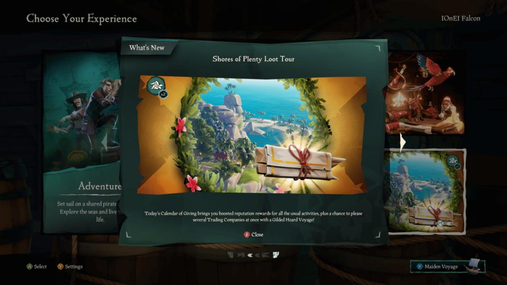 Shores of Plenty Loot Tour