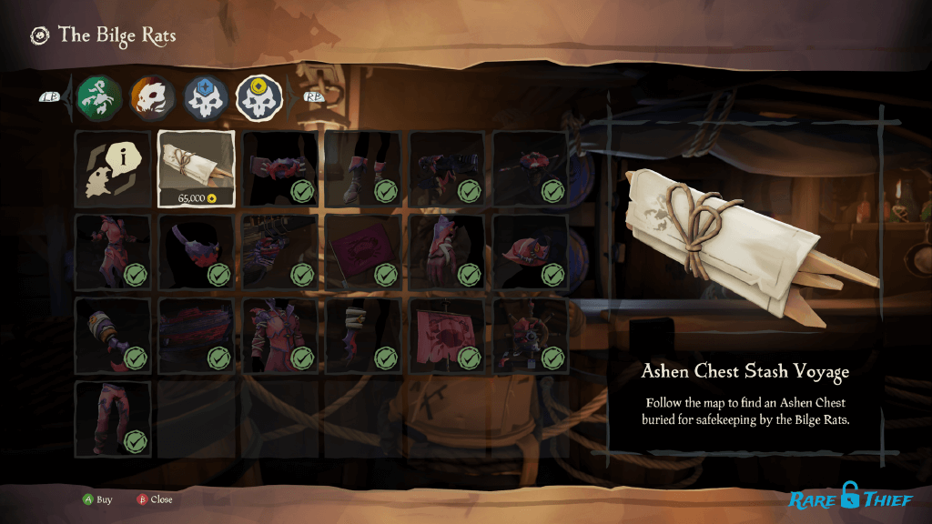 Buying Ashen Chest Stash Voyages for Gold