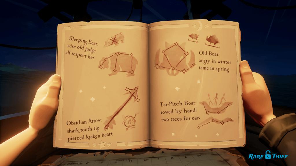 Stars of a Thief Constellations: Bear, Arrow, Boar, Boat