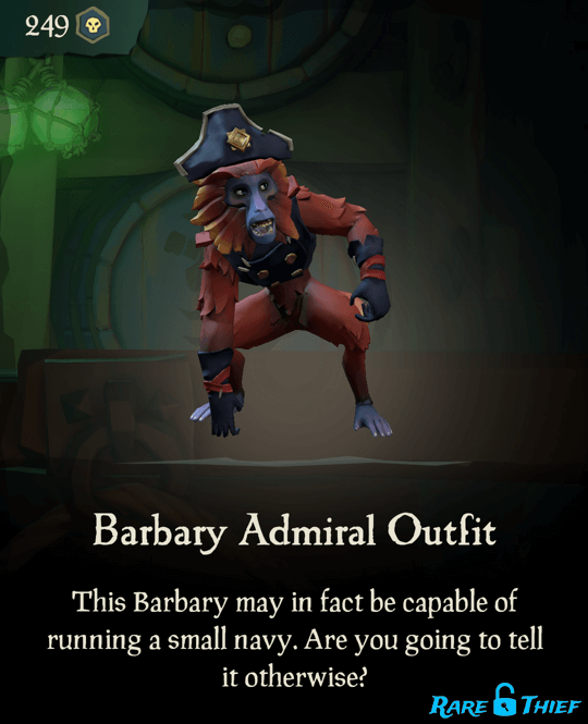 Barbary Admiral Outfit