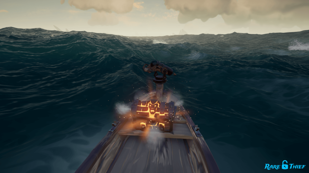 Chest of Rage on rowboat