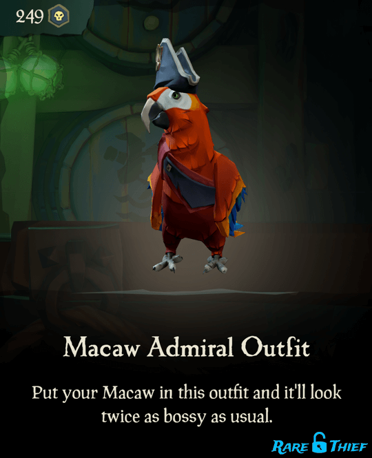 Macaw Admiral Outfit