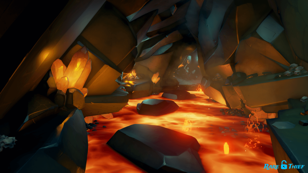 The path of the Eternal King Jumping Lava Platforming Section