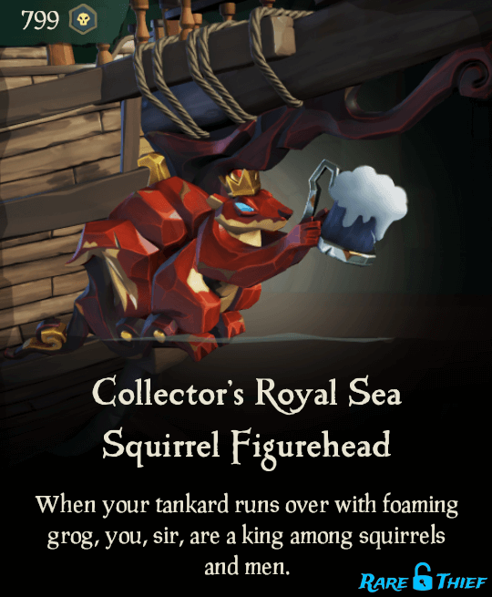Collector's Royal Sea Squirrel Figurehead