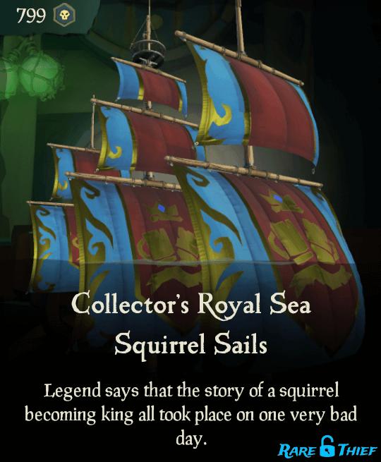 Collector's Royal Sea Squirrel Sails