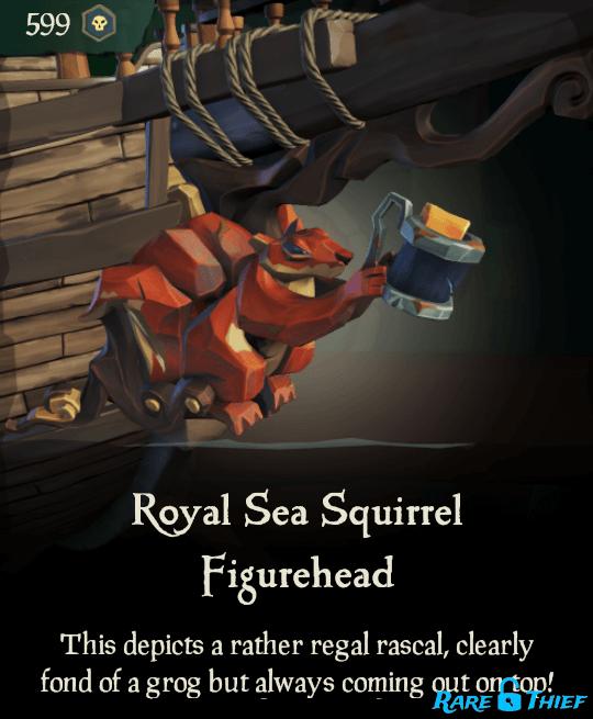 Royal Sea Squirrel Figurehead