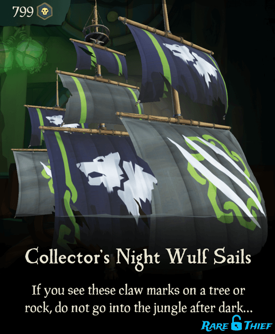 Collector's Night Wulf Sails