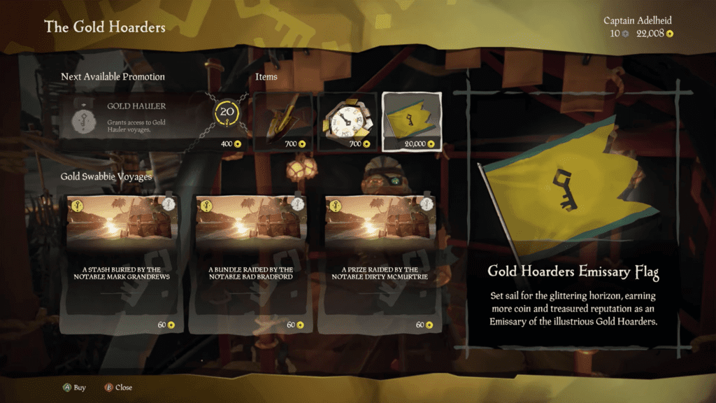 Purchase Gold Hoarders Emissary Flag