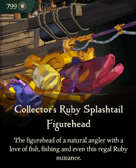 Collector's Ruby Splashtail Figurehead